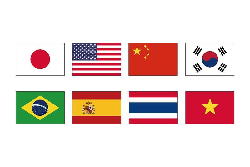 8ヶ国語対応